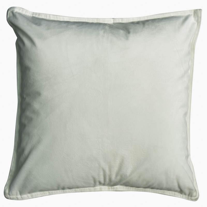 White Velvet European Pillowcase (Bellevue)