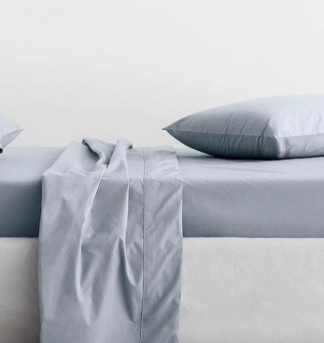300 Thread Count Organic Cotton Percale River Sheet Set (Sheridan)