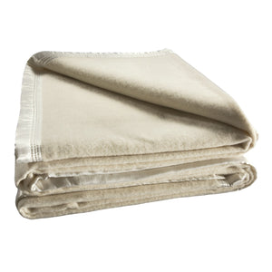 Cream Wool Blanket 480GSM (Bianca)