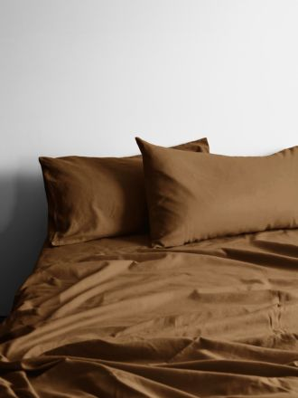 370 Thread Count Tobacco Halo Organic Sheet Set