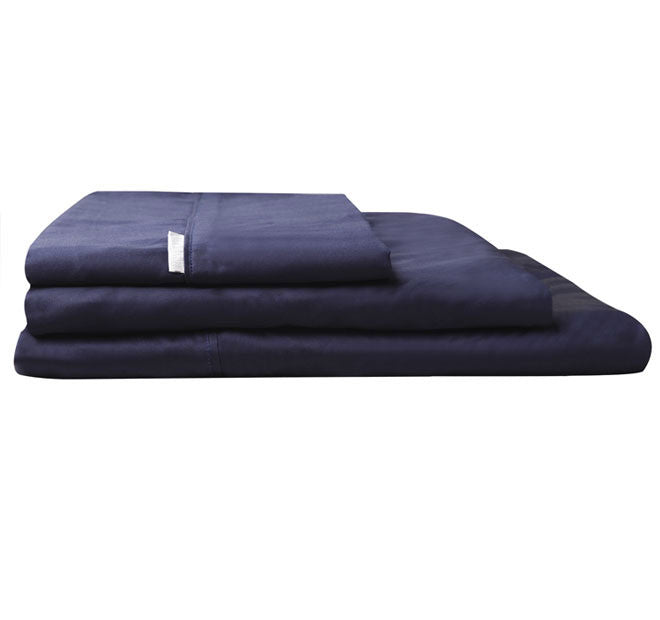 400 Thread Count Navy Sheet Set