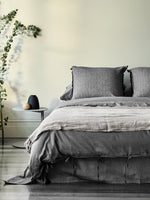 Load image into Gallery viewer, Maison Vintage Charcoal Quilt Cover