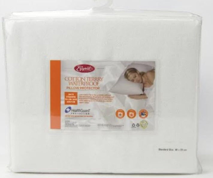 Cotton Terry Waterproof Pillow Protector (Easyrest)
