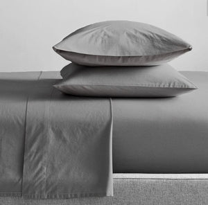 300TC Organic Cotton Charcoal Sheet Set