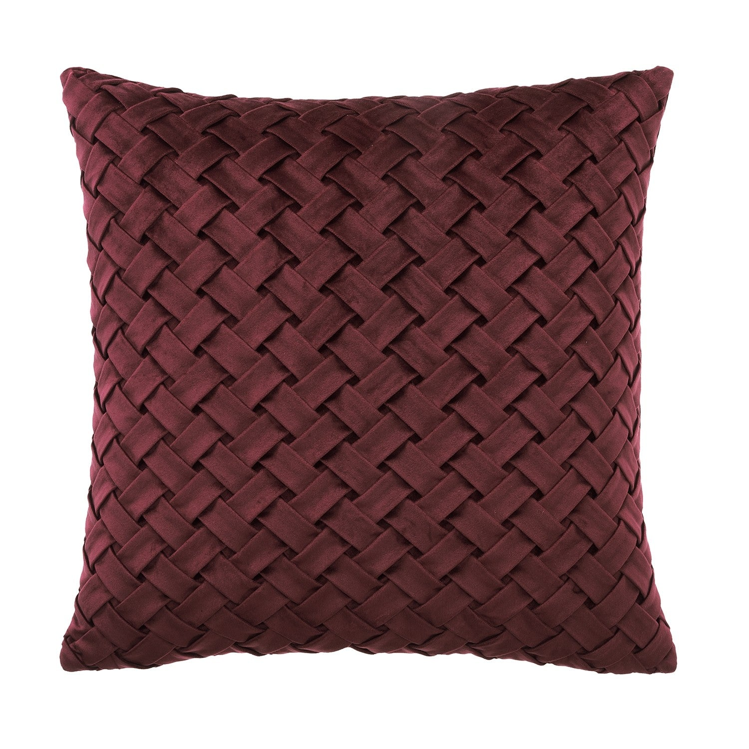 Venice Velvet Square Cushion Terracotta