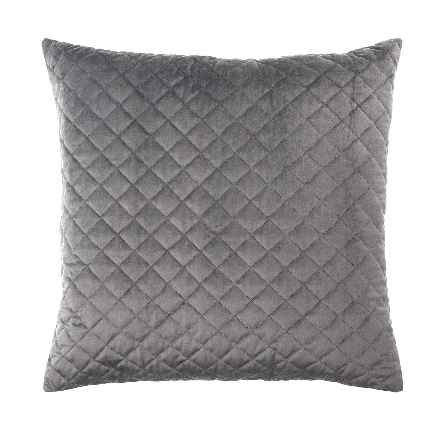 Vivid Coordinate Velvet Grey European Pillowcase