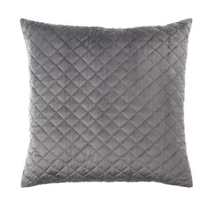 Vivid Coordinate Velvet Grey European Pillowcase (Bianca)