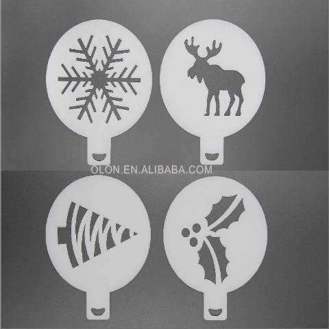 Creative Plastic Garland Coffee Printing Mold Stencils- Create a romantic life by hands