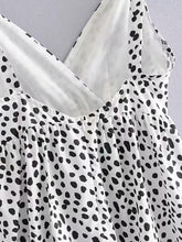 Load image into Gallery viewer, Dalmatian Print Ruffle Hem Cami Dress