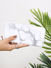 Load image into Gallery viewer, Marble Print Zip Around Purse