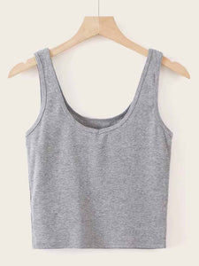 Solid Crop Tank Top