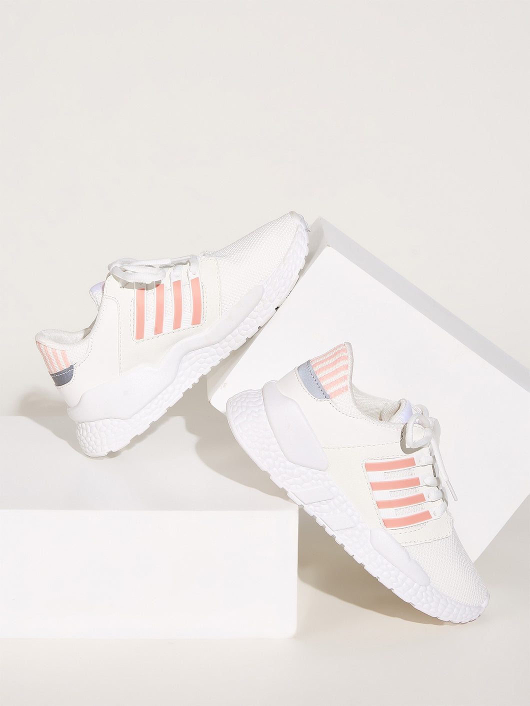 Striped Lace-up Front Sneakers
