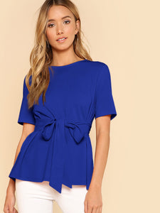 SHEIN Belted Solid Top