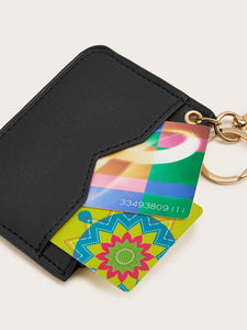 V Cut Card Holder With Keychain