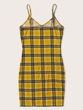 Load image into Gallery viewer, SHEIN Tartan Print Slip Dress