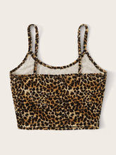 Load image into Gallery viewer, SHEIN Plus Leopard Print Velvet Cami Top