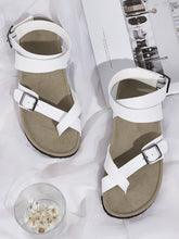 Load image into Gallery viewer, Toe Ring Buckle Strap Flat Sandals