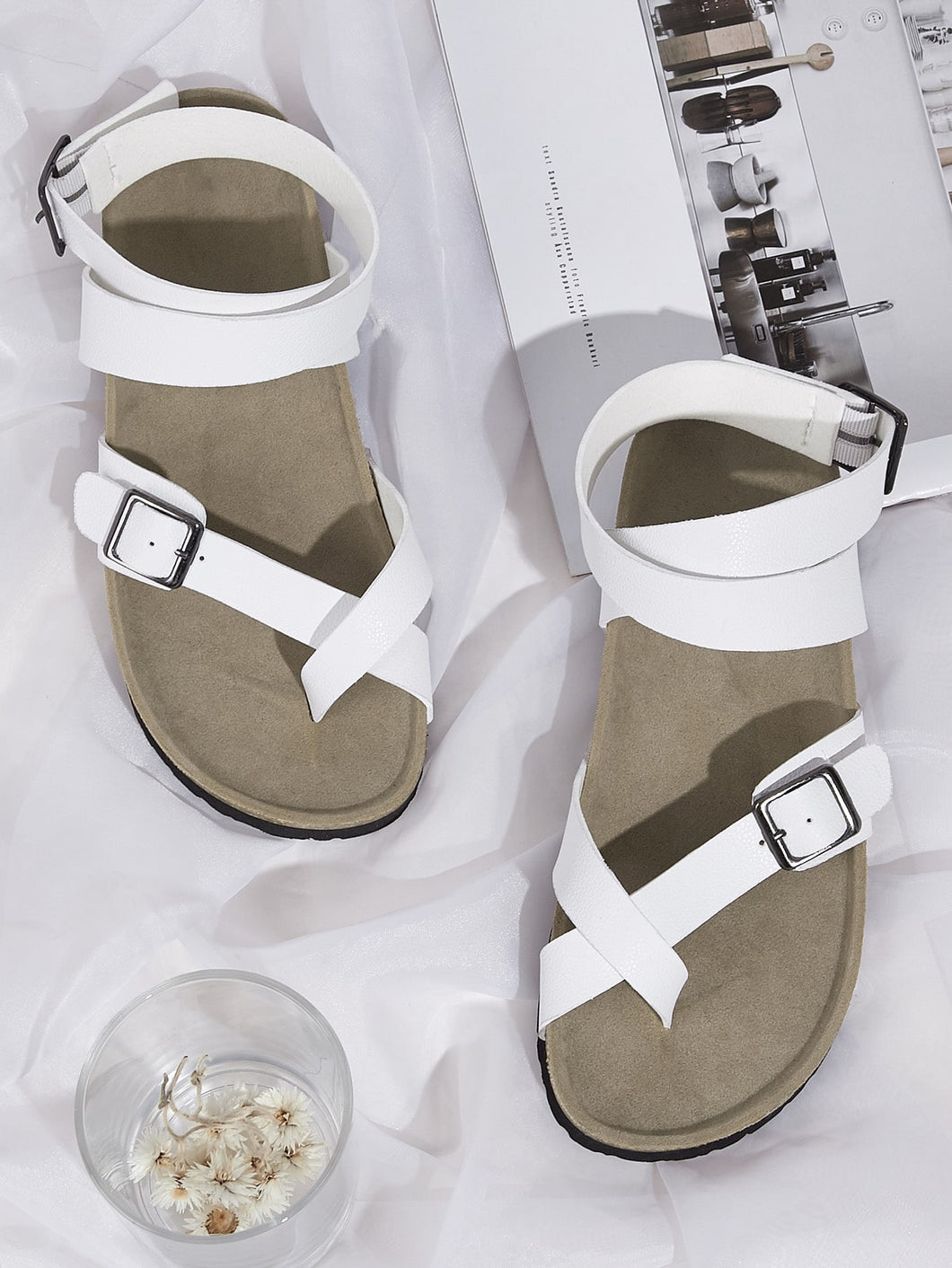 Toe Ring Buckle Strap Flat Sandals