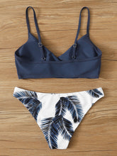 Load image into Gallery viewer, Palm Random Print Adjustable Strap Bikini Swimsuit