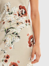 Load image into Gallery viewer, SHEIN Floral Criss Cross Draped Back Cami Satin Dress