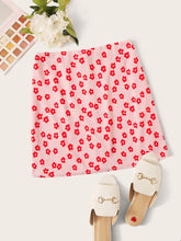 Load image into Gallery viewer, Zip Back Floral Print Skirt