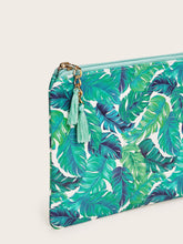 Load image into Gallery viewer, Tropical Leaf Print Purse