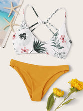 Load image into Gallery viewer, Floral Random Print Bikini Swimsuit