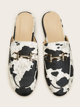 Load image into Gallery viewer, Cow Pattern Horsebit Loafers Mules