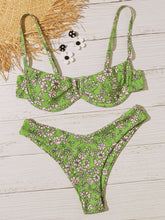 Load image into Gallery viewer, Floral Random Print Underwire High Cut Bikini Swimsuit