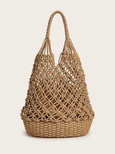 Braided Tote Bag With Inner Pouch