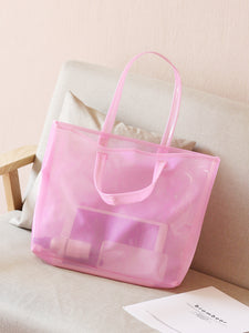 Twilly Scarf Decor Clear Tote Bag