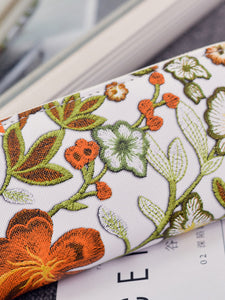 Floral Embroidery Purse