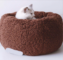 Load image into Gallery viewer, Super soft and comfortable cat and dog donut nest bed