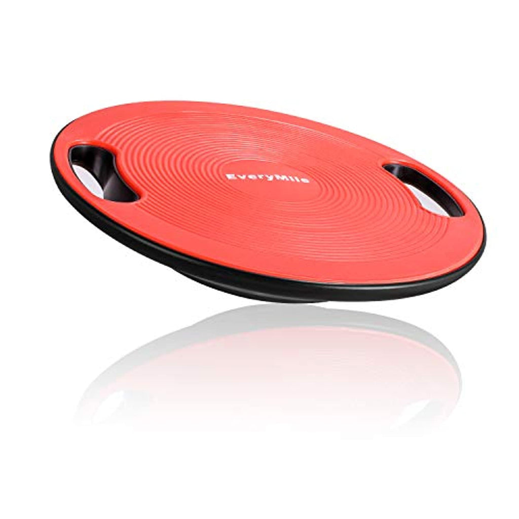 "Wobble Balance Board, Exercise Balance Stability Trainer Portable Balance Board with Handle for Workout Core Trainer Physical Therapy & Gym 15.7"" Diameter No-Skid Surface"