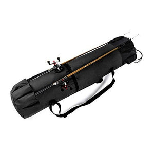 Groryclt Portable Fishing Rod Bag Fishing Pole and Reel Carrier Storage Case Travel Carry Holder Bags Great