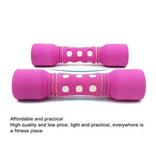 Load image into Gallery viewer, Meet World YUNPENG Lasting Aerobics - Neoprene Dumbbells (Pair) 1Kg Dumbbell Set - Non-Slip (Color: Purple, Pink, Blue),Pink
