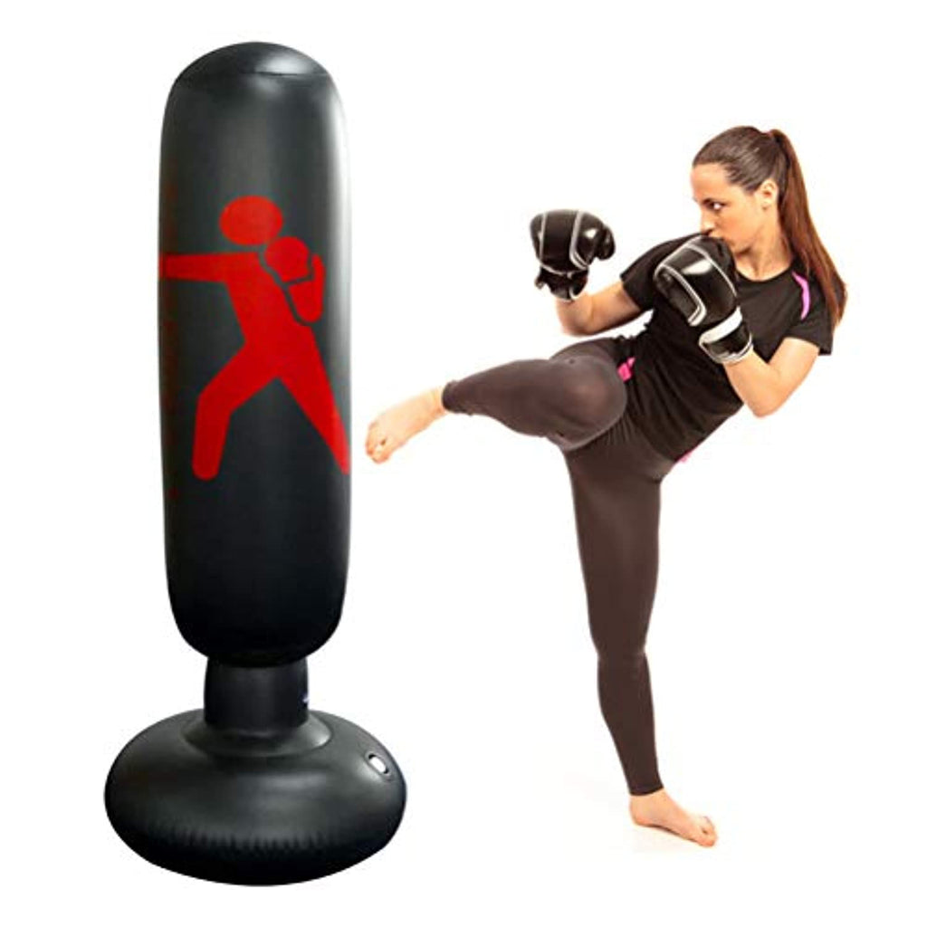 Inflatable Boxing Bag, PVC Tumbler Training Bag Boxing Pillar Tumbler Fight Column Punching Bag Heavy Tower Bag Fitness Accessories (160CM)