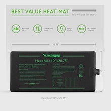 "Load image into Gallery viewer, VIVOSUN Durable Waterproof Seedling Heat Mat Warm Hydroponic Heating Pad 10"" x 20.75"" MET Standard"