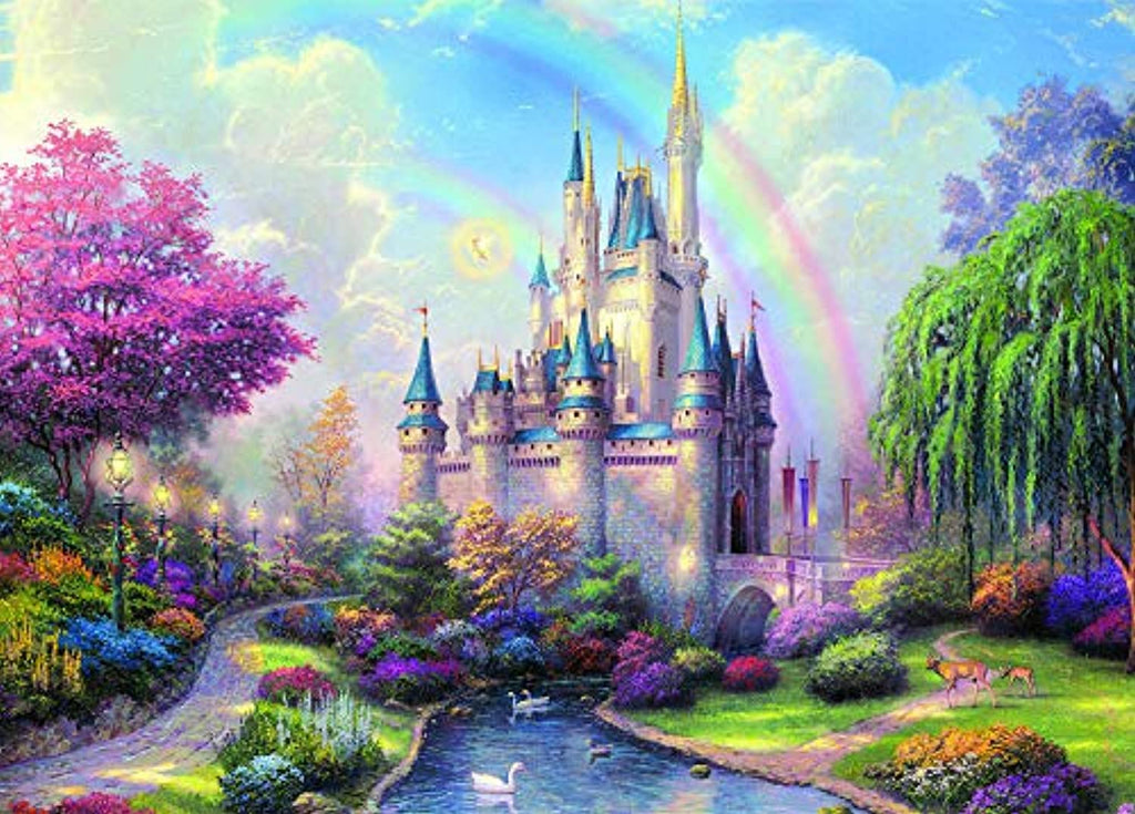 niyokki 1000 Piece Puzzles for Adults, Jigsaw Puzzles Novelty Games for Family, Landscape Art Painting Puzzles Toys DIY Creative Gifts Home Decor (Castle)
