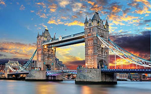 1000 PCS Jigsaw Puzzles - Tower Bridge, Educational Intellectual Decompressing Fun Game for Kids Adults