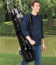 Load image into Gallery viewer, Groryclt Portable Fishing Rod Bag Fishing Pole and Reel Carrier Storage Case Travel Carry Holder Bags Great
