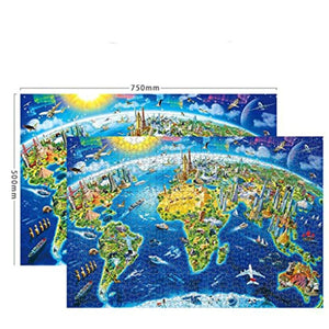 Jigsaw Puzzles 1000 Piece for Kids Adults Puzzle Cherrys Game Interesting Toys Educational Personalized Gift (Blue, A)
