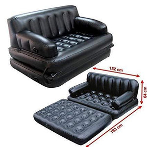 5 in 1 Inflatable Sofa Air Bed Couch