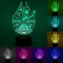 Load image into Gallery viewer, 3D Illusion Star Wars Night Light, Three Pattern and 7 Color Change Decor Lamp - Perfect Gifts for Kids and Star Wars Fans