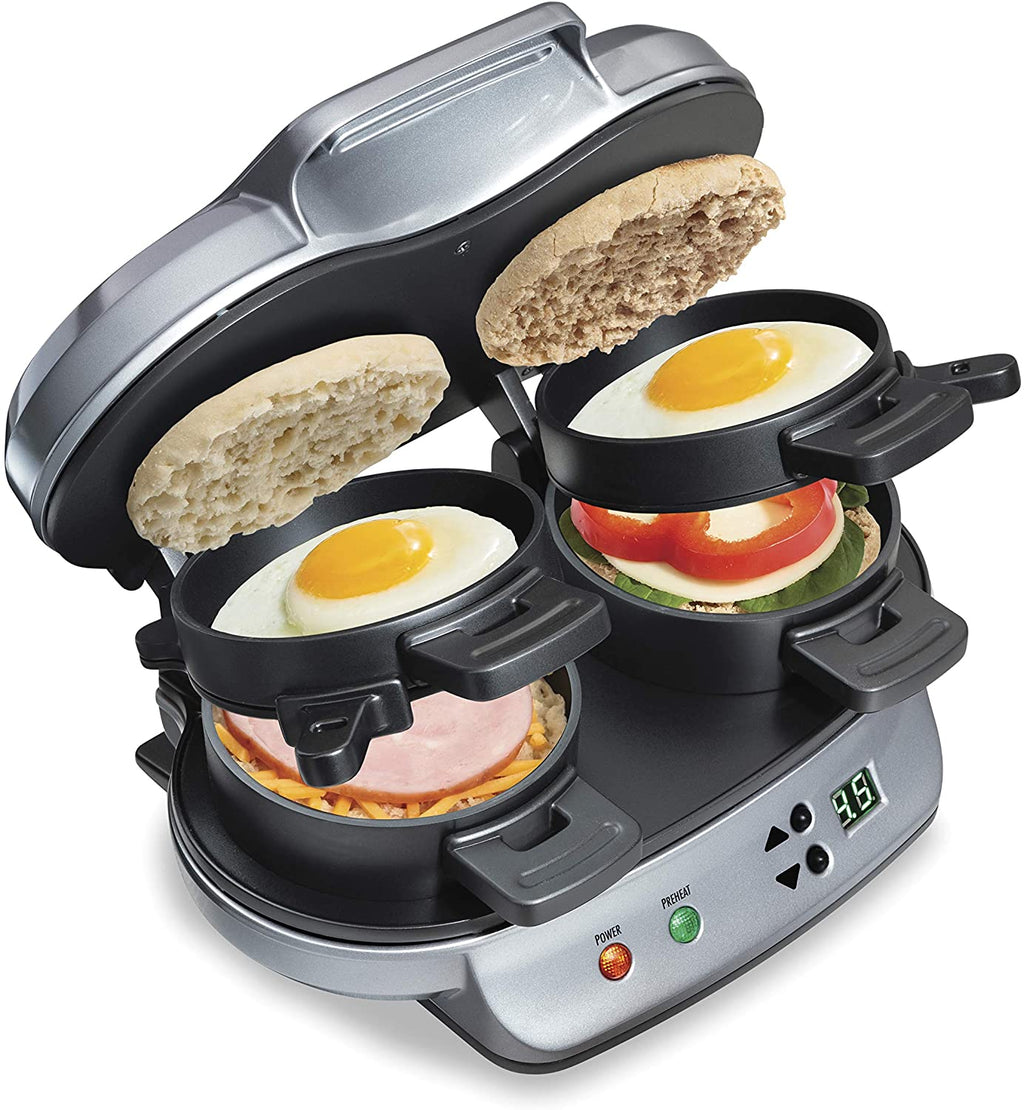 Hamilton Beach Breakfast Sandwich Maker, Black (25477)