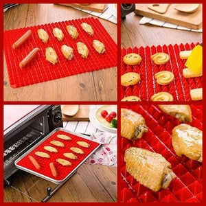 Non-Stick Silicone Oven Mat-No more suffer from cleaning oven tray