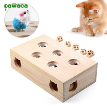 Load image into Gallery viewer, Wood Cat Hit Gophers toys Interactive Catch Mouse Game