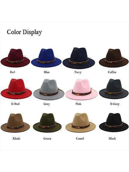 keepnicer.com Hat Red Wide Brim Panama Hats