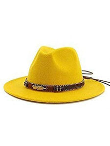 keepnicer.com Hat Yellow Wide Brim Panama Hats