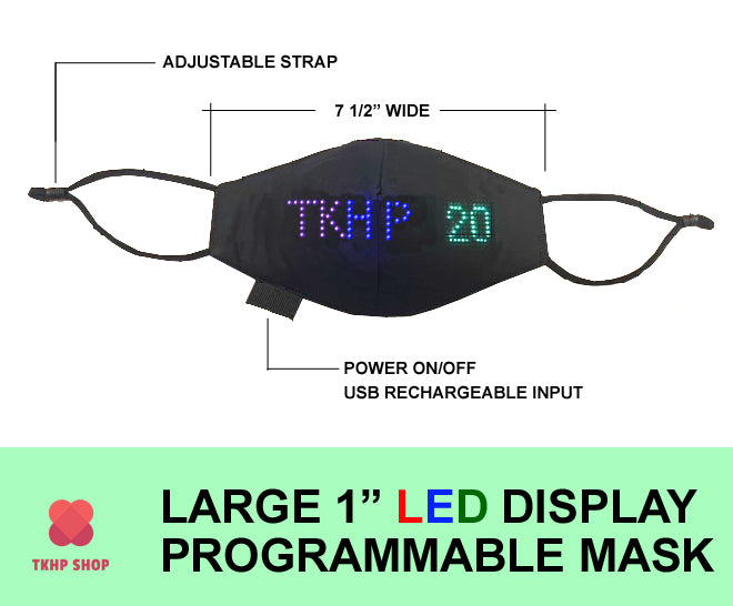 TKHP LED Programmable Face Mask